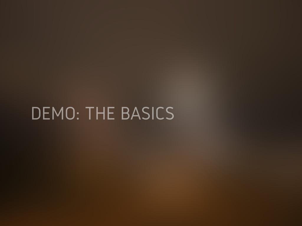 DEMO: THE BASICS