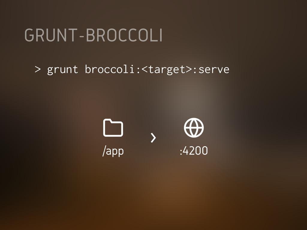 GRUNT-BROCCOLI > grunt broccoli:<target>:serve ...