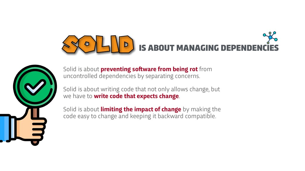 Solid is about preventing so f t ware from bein...