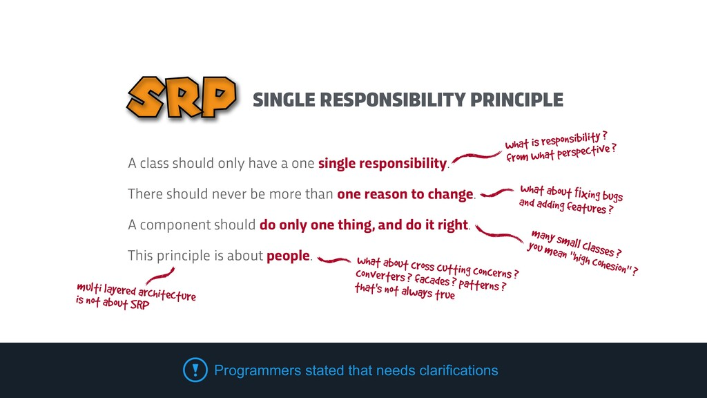 SINGLE RESPONSIBILITY PRINCIPLE SRP what is res...
