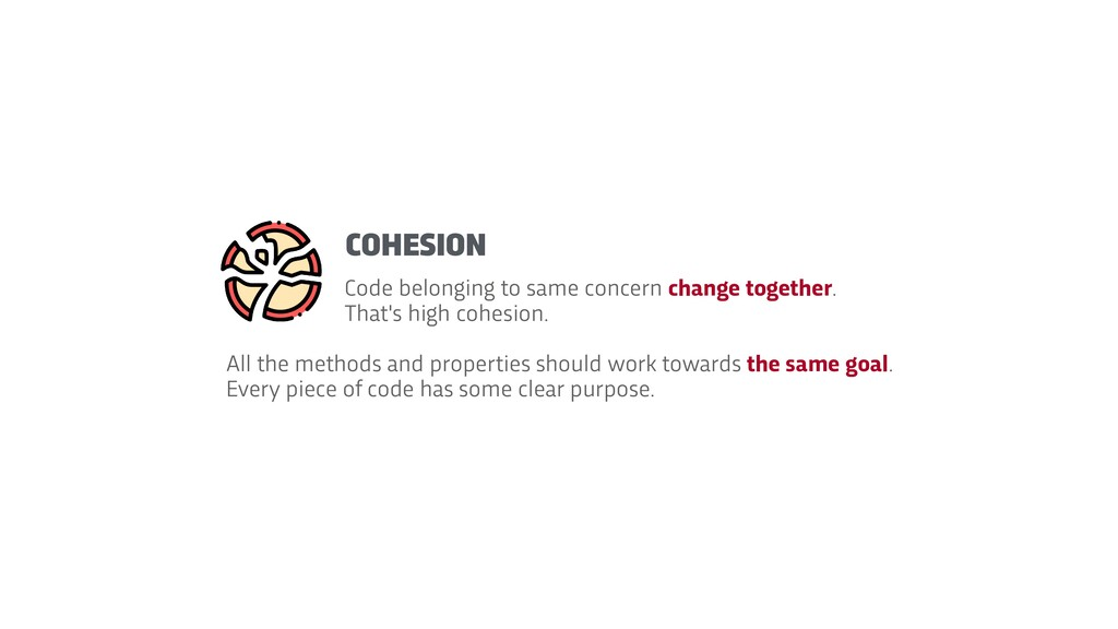 Code belonging to same concern change together....