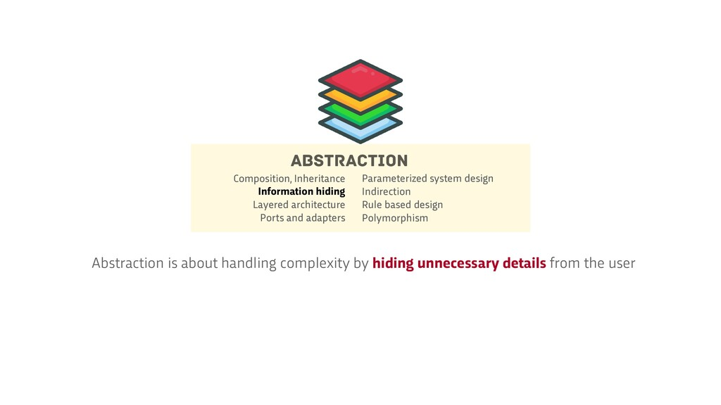 Abstraction is about handling complexity by hid...