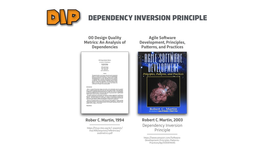 DEPENDENCY INVERSION PRINCIPLE DIP Rober C. Mar...