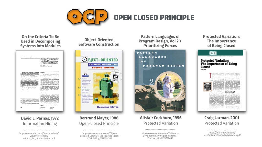 OPEN CLOSED PRINCIPLE OCP Bertrand Mayer, 1988 ...