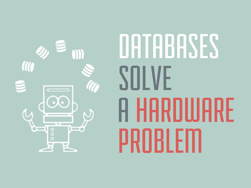 DATABASES A HARDWARE SOLVE PROBLEM