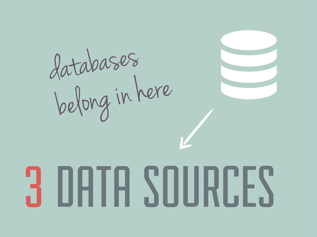 DATA SOURCES 3 databases belong in here