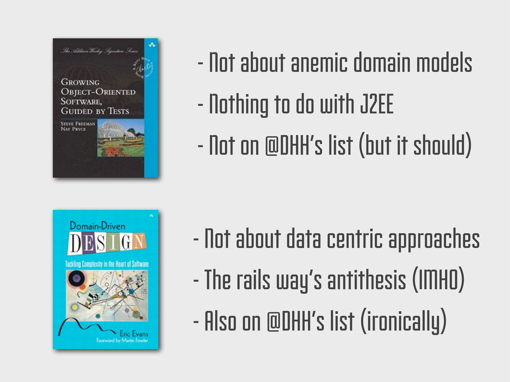 - Not about anemic domain models - Nothing to d...