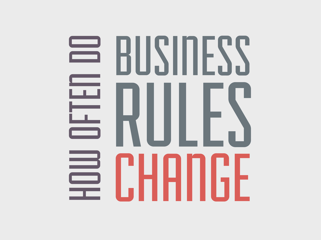 HOW OFTEN DO BUSINESS RULES CHANGE