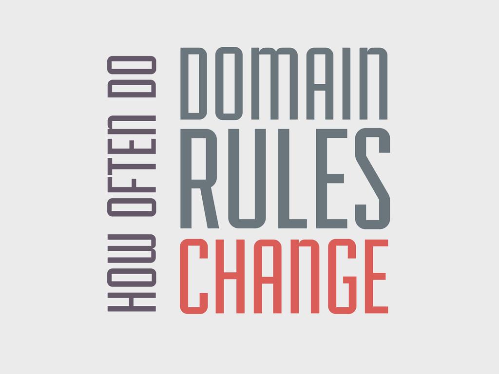 HOW OFTEN DO DOMAIN RULES CHANGE
