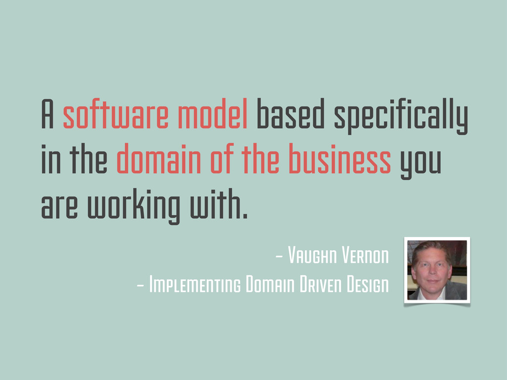 A software model based specifically in the doma...