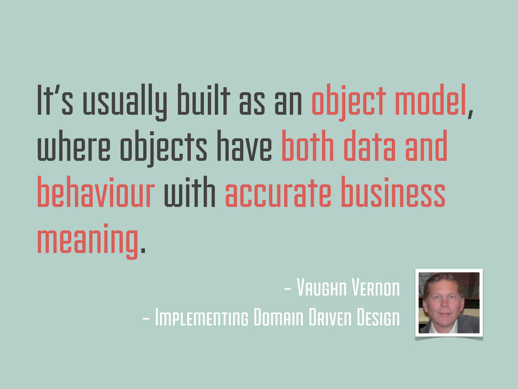 It's usually built as an object model, where ob...