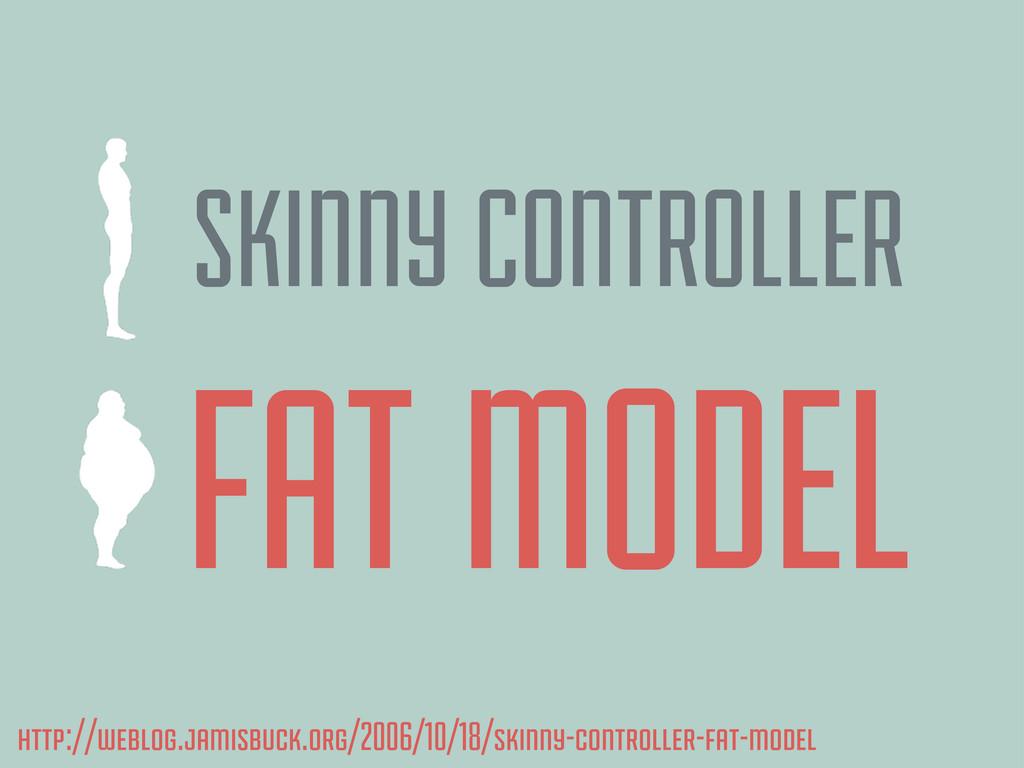 SKINNY CONTROLLER FAT MODEL http://weblog.jamis...