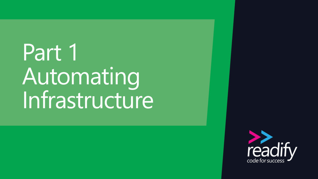 Part 1 Automating Infrastructure