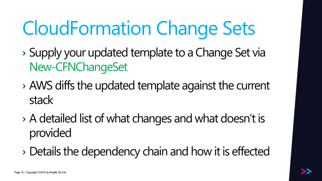 Page CloudFormation Change Sets › Supply your u...