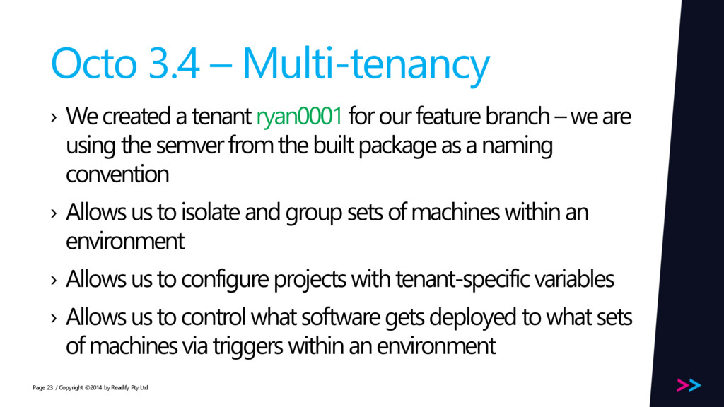Page Octo 3.4 – Multi-tenancy › We created a te...