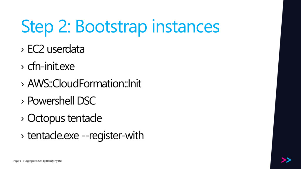 Page Step 2: Bootstrap instances › EC2 userdata...