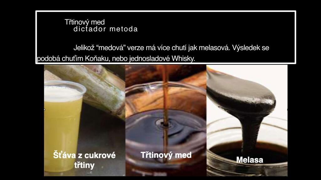 """Třtinový med dictador metoda Jelikož """"medová"""" v..."""