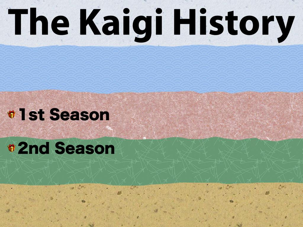 The Kaigi History  TU4FBTPO  OE4FBTPO