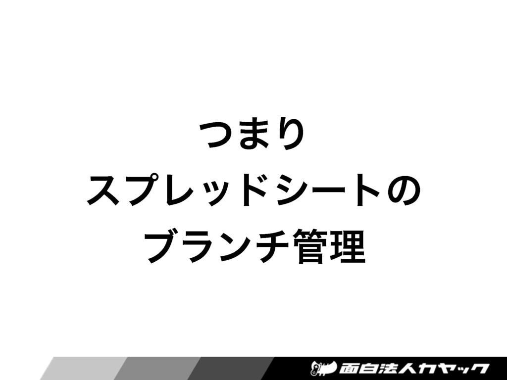 ͭ·Γ εϓϨουγʔτͷ ϒϥϯνཧ
