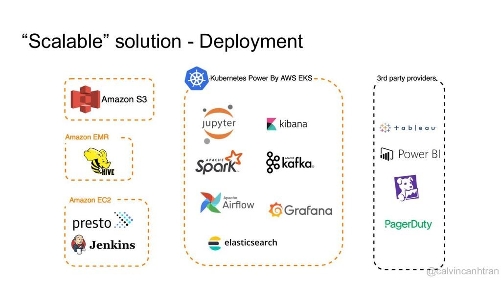 """Scalable"" solution - Deployment @calvincanhtran"