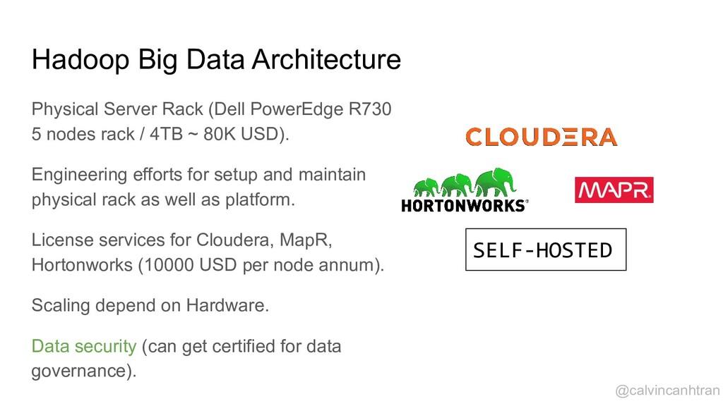 Hadoop Big Data Architecture Physical Server Ra...
