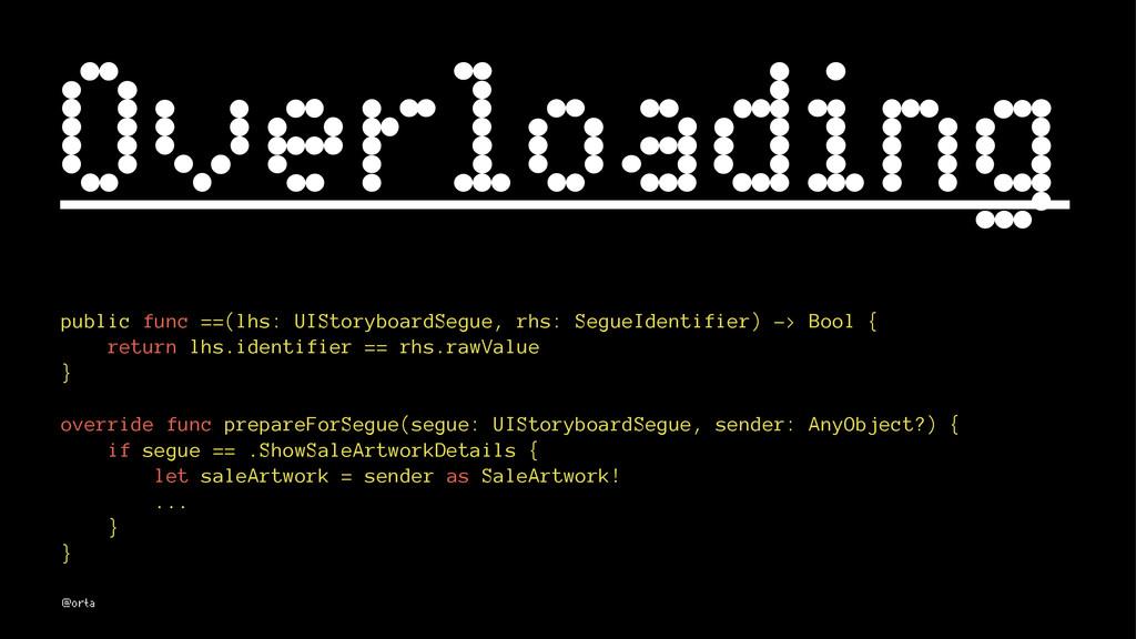 Overloading public func ==(lhs: UIStoryboardSeg...