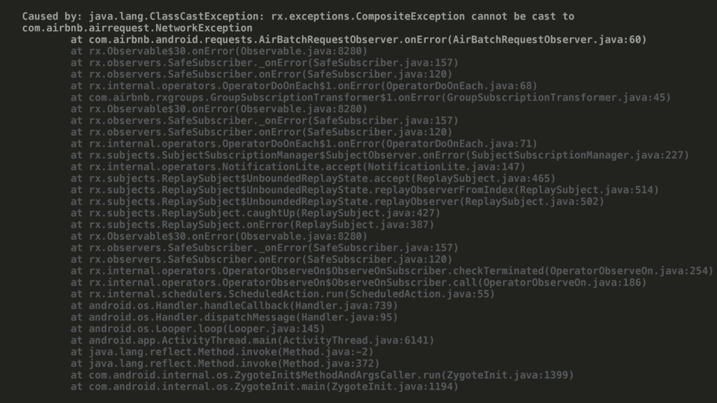 Caused by: java.lang.ClassCastException: rx.exc...