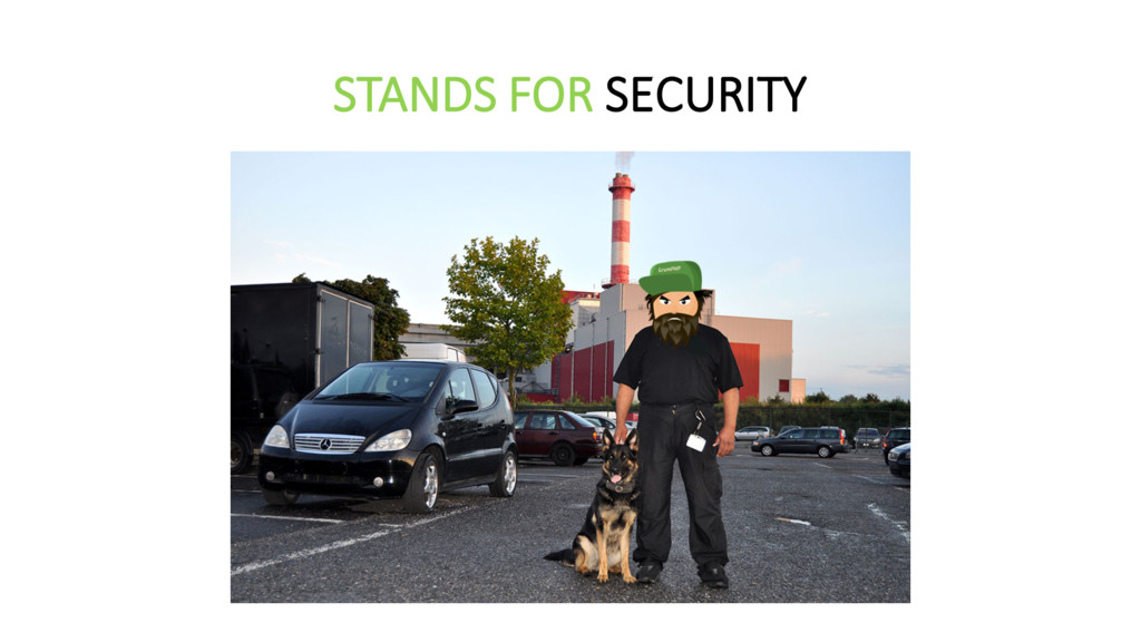STANDS FOR SECURITY