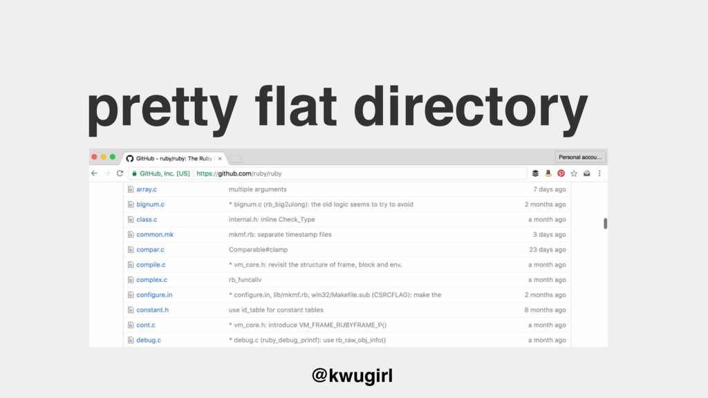 @kwugirl pretty flat directory