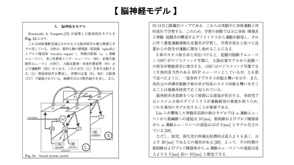 【 脳神経モデル 】