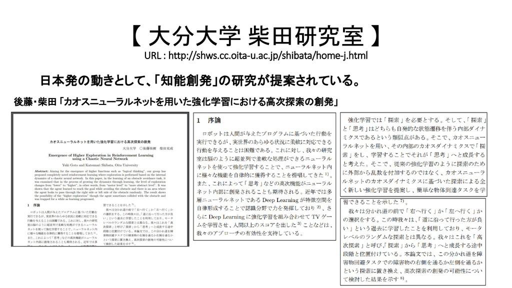 【 大分大学 柴田研究室 】 URL : http://shws.cc.oita-u.ac.j...