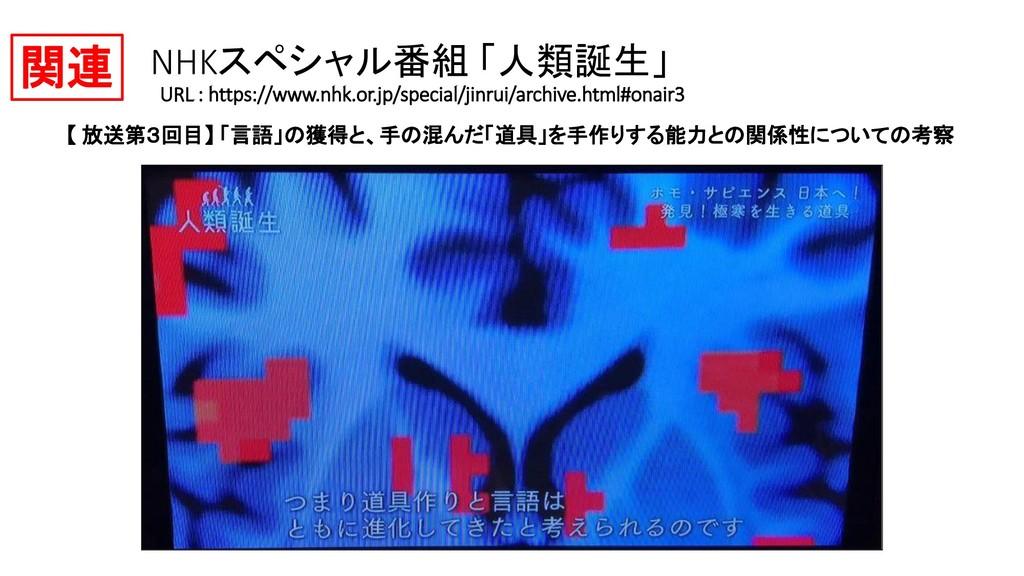 NHKスペシャル番組 「人類誕生」 URL : https://www.nhk.or.jp/s...