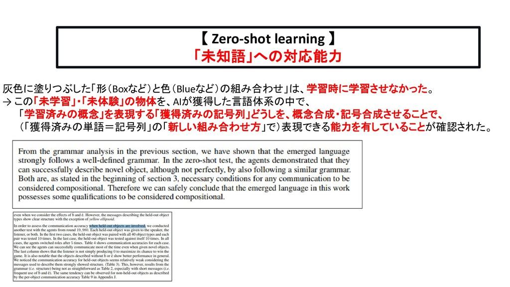 【 Zero-shot learning 】 「未知語」への対応能力 灰色に塗りつぶした「形(...