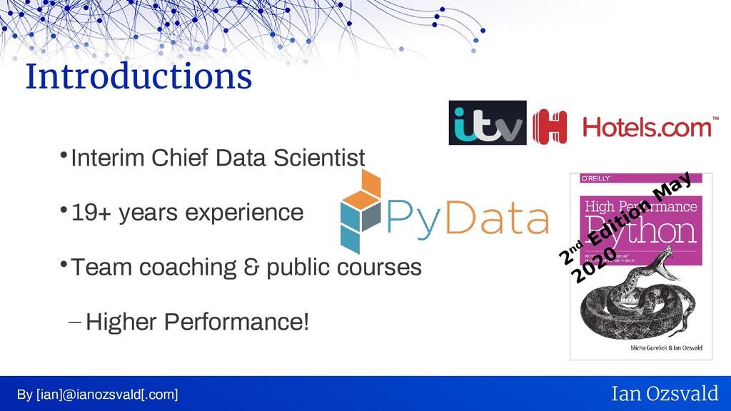  Interim Chief Data Scientist  19+ years expe...