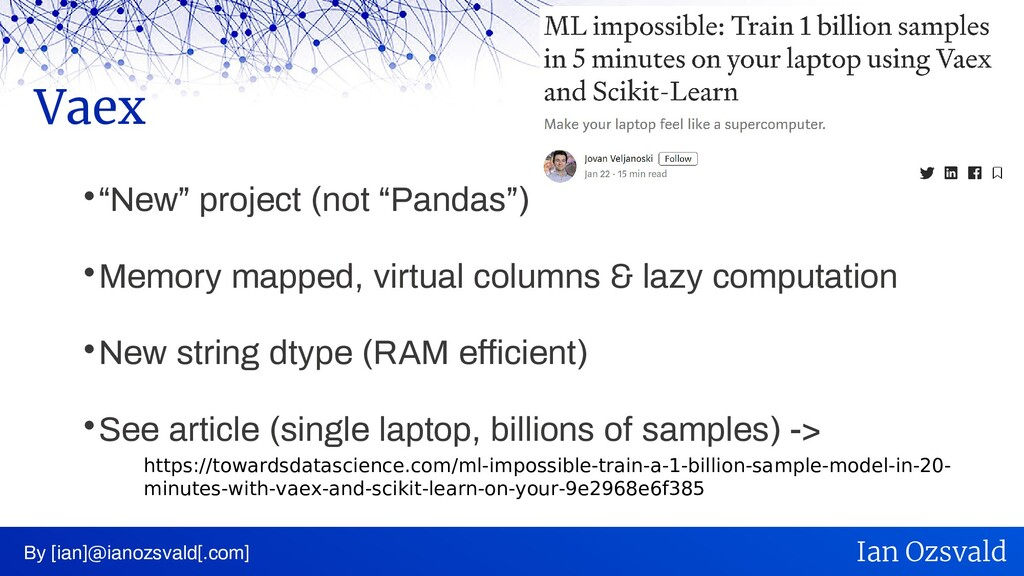 """ """"New"""" project (not """"Pandas"""")  Memory mapped,..."""