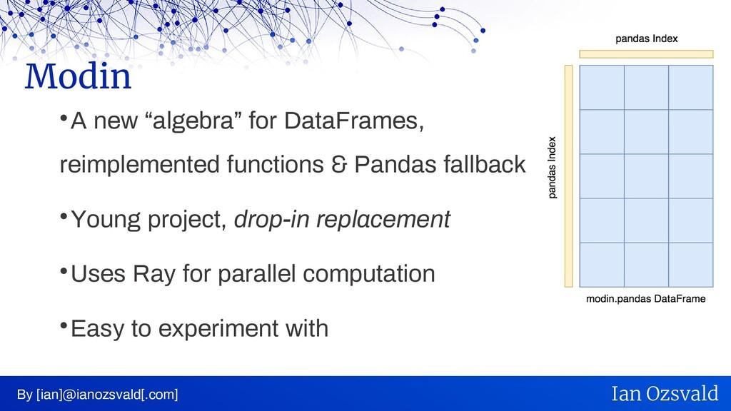 " A new ""algebra"" for DataFrames, reimplemented..."