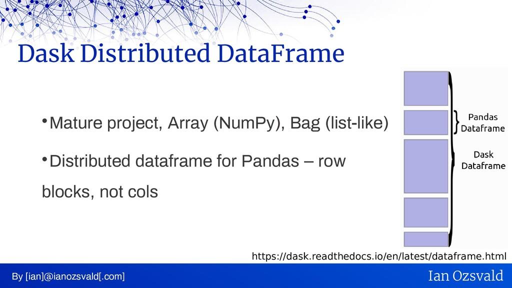  Mature project, Array (NumPy), Bag (list-like...
