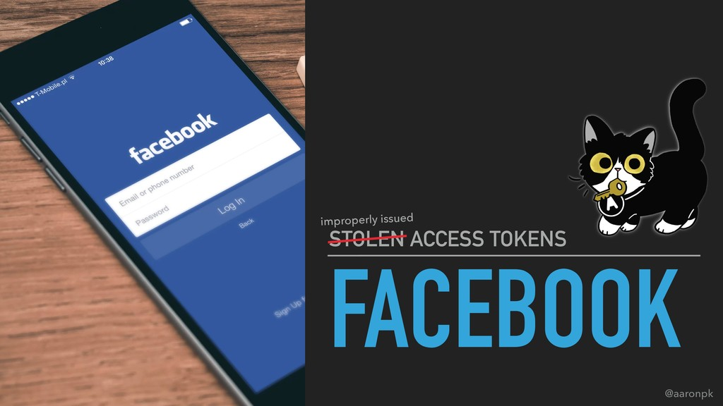 @aaronpk FACEBOOK STOLEN ACCESS TOKENS improper...