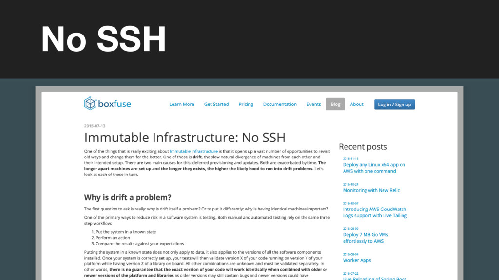 (without introducing more risk) No SSH