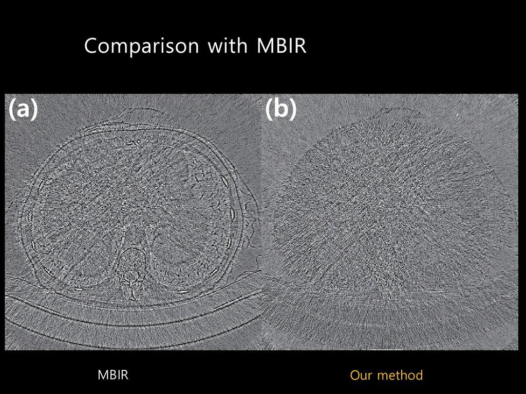 MBIR Our method  C  D