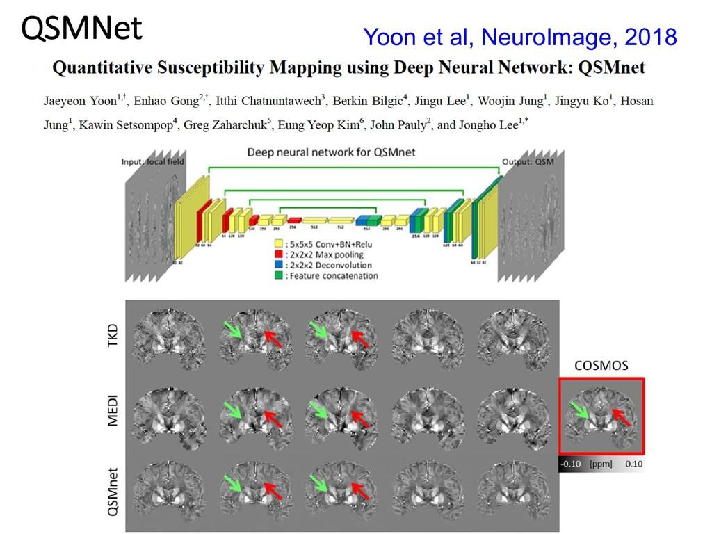 QSMNet Yoon et al, NeuroImage, 2018