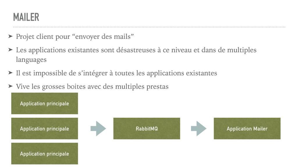 """MAILER ➤ Projet client pour """"envoyer des mails""""..."""