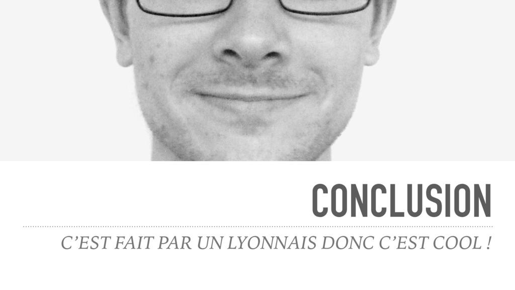 CONCLUSION C'EST FAIT PAR UN LYONNAIS DONC C'ES...