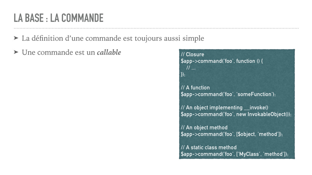 LA BASE : LA COMMANDE ➤ La définition d'une comm...