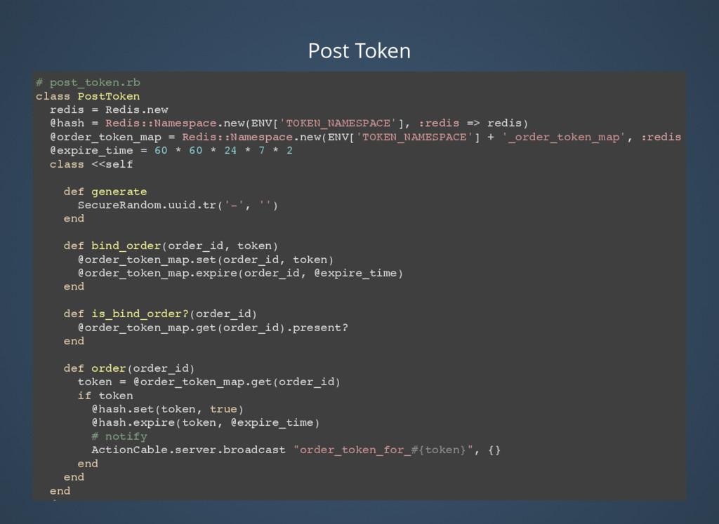 # post_token.rb class PostToken redis = Redis.n...