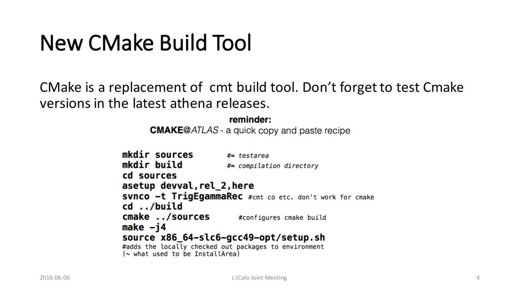 New CMake Build Tool CMake is a replacement of ...