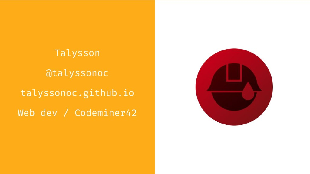 Talysson @talyssonoc talyssonoc.github.io Web d...
