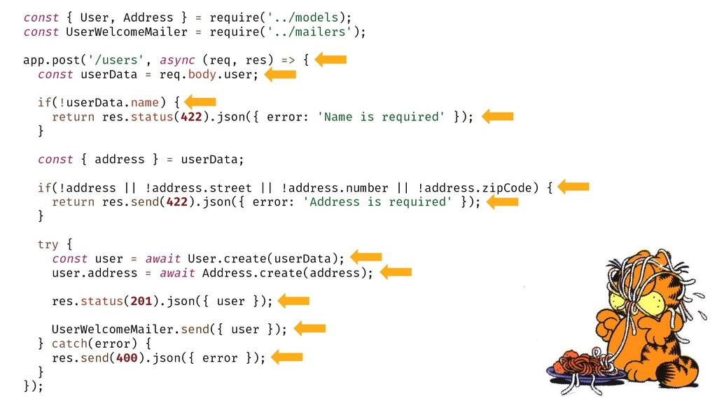 const { User, Address } = require('../models); ...