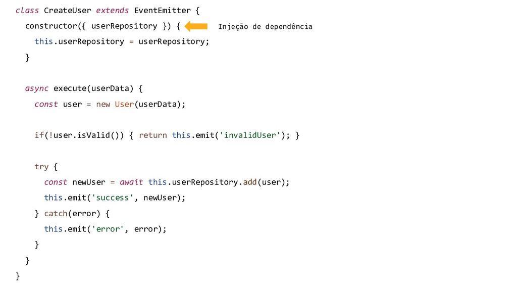 class CreateUser extends EventEmitter { constru...
