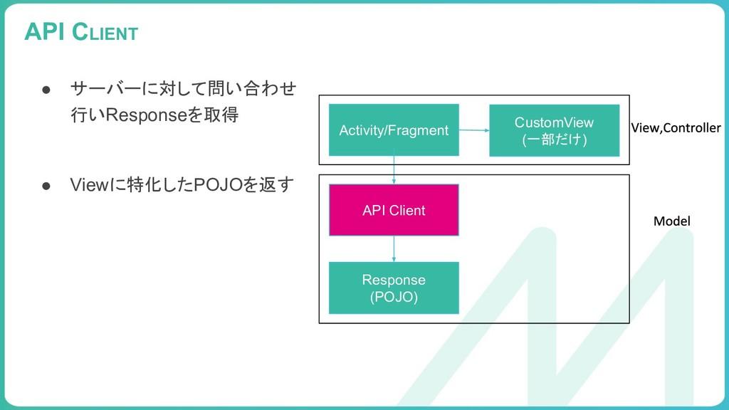 99 API CLIENT Activity/Fragment API Client Resp...